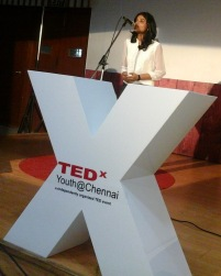 Speaker at TEDxYouth@Chennai