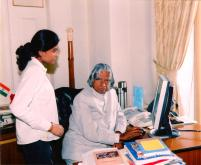 Honored by Dr. APj Abdul Kalam